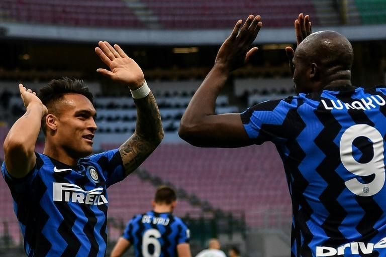 Romelu Lukaku (R) and Lautaro Martinez (L) both scored for Inter Milan