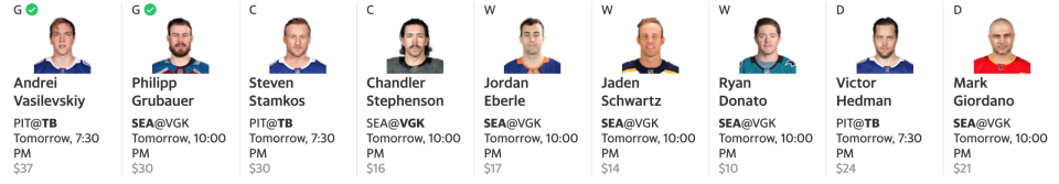 Stacking the Seattle Kraken could be a winning strategy on opening night. (Yahoo Fantasy)