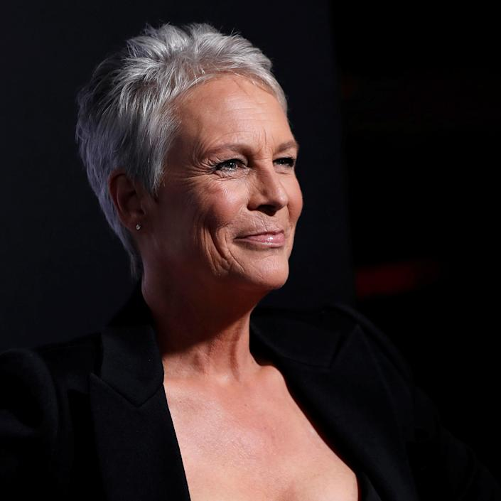 Jamie Lee Curtis poses at a premiere for the movie