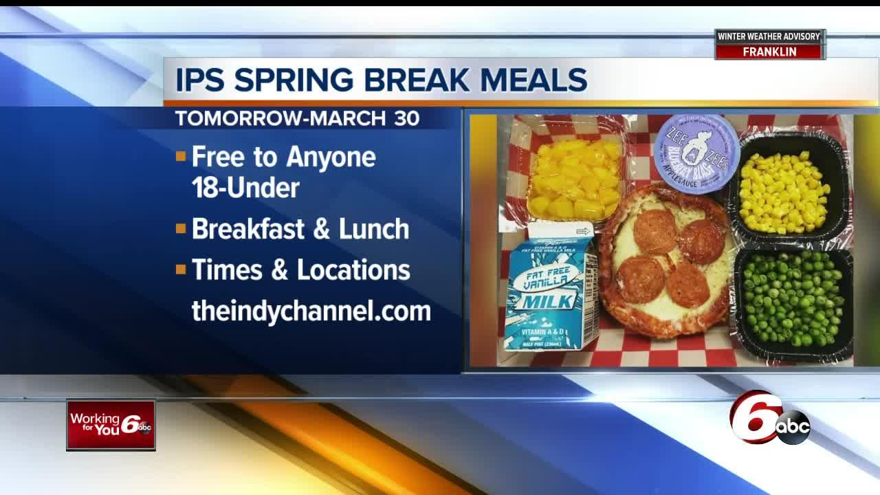 Through March 30, any student on spring break can get free breakfast and lunches if they are under 18.