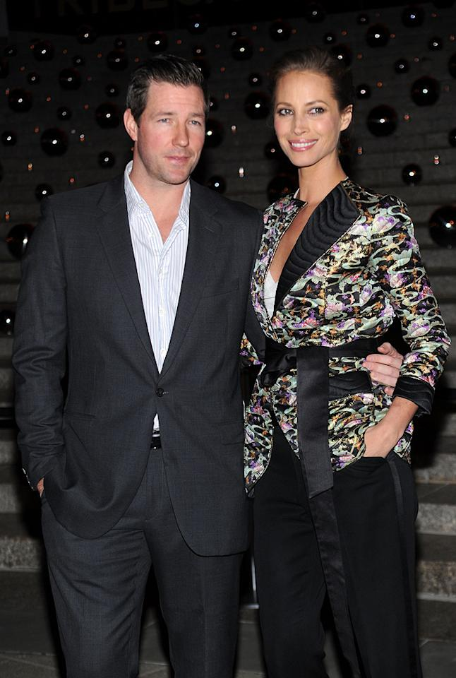 """<a href=""""http://movies.yahoo.com/movie/contributor/1809223266"""">Edward Burns</a> and <a href=""""http://movies.yahoo.com/movie/contributor/1800228035"""">Christy Turlington</a> at the 9th Annual Tribeca Film Festival Vanity Fair party in New York City on April 20, 2010."""