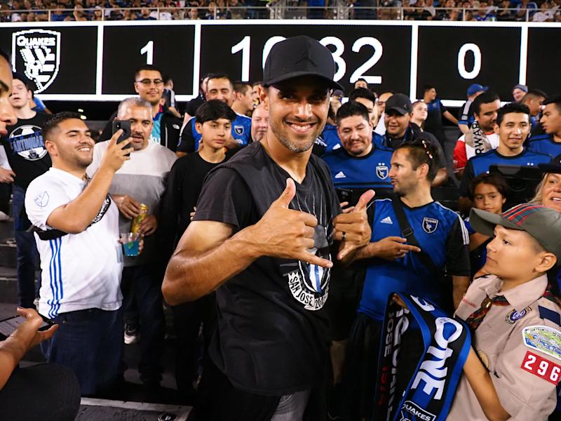 San Jose Earthquakes forward Chris Wondolowski served his first-ever red card suspension with the Earthquakes' fan group, the San Jose Ultras. (Kelley L Cox-USA TODAY Sports)