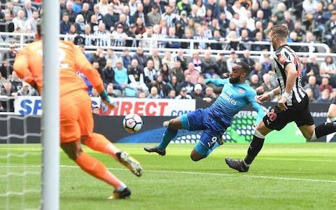 <span>Alexandre Lacazette had given Arsenal the lead in the lead in the 14th minute</span> <span>Credit: Gety Images </span>
