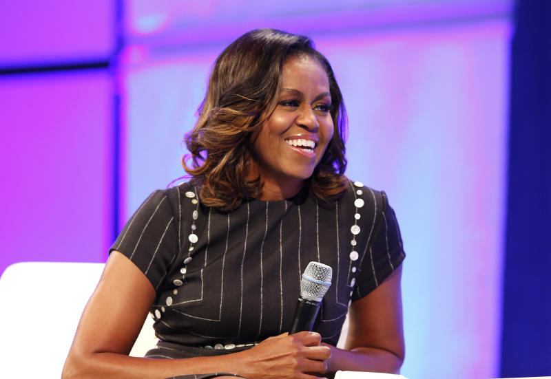 Listen to the former first lady. (Marla Aufmuth via Getty Images)