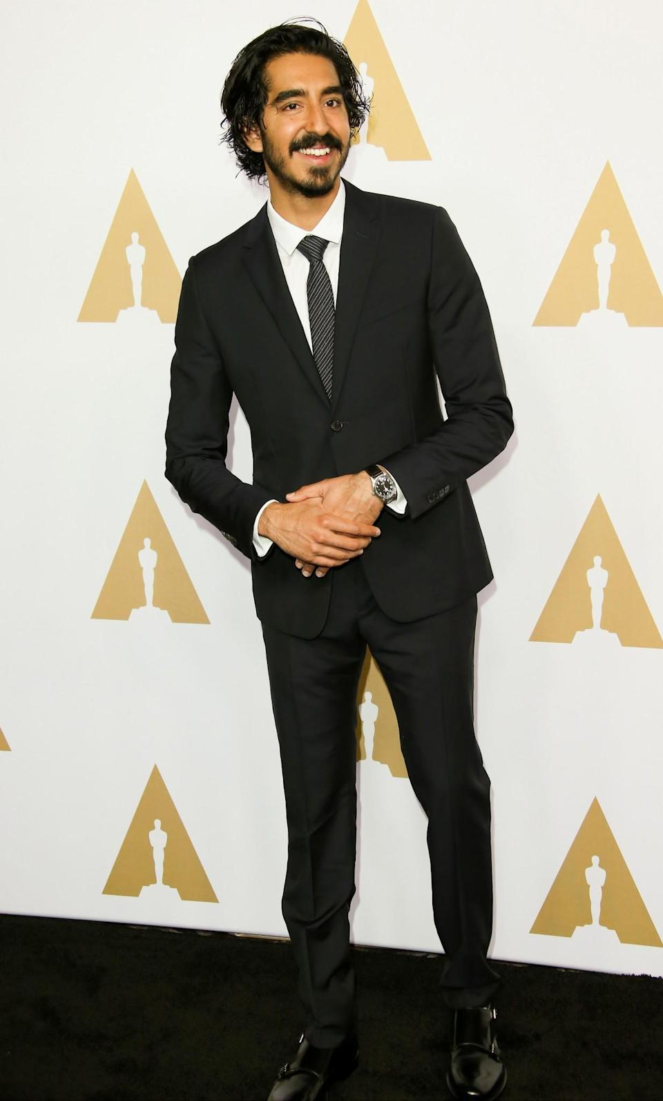 <p>'Lion' actor Dev Patel also suited up and showed off his ever growing facial hair. [Photo: Getty] </p>