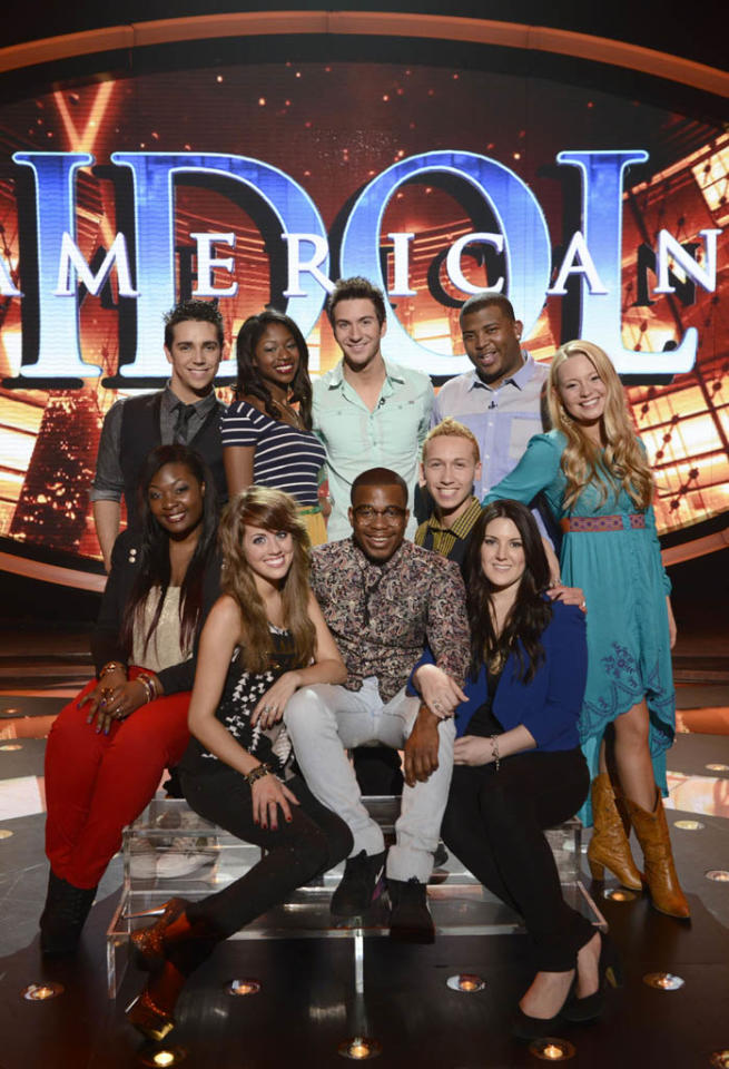 "The top 10 contestants of ""American Idol"" Season 12."