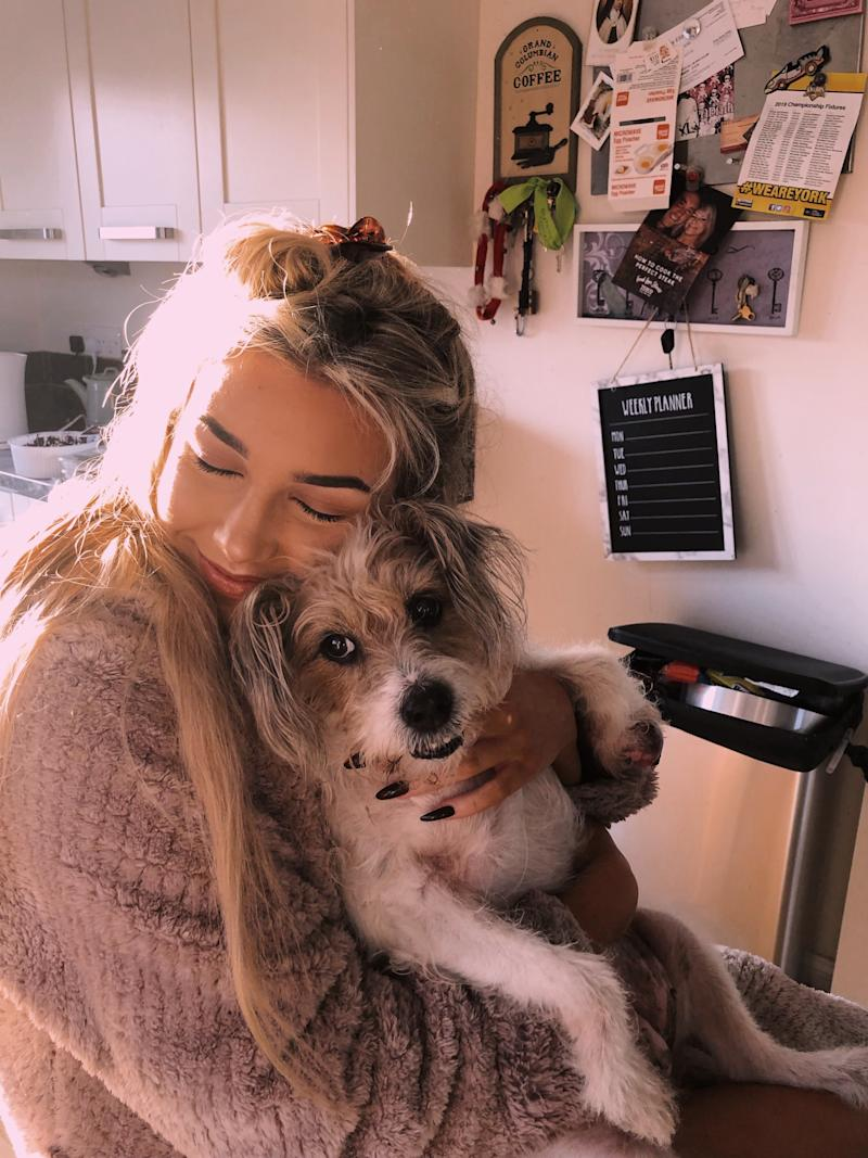 Lucy Ledgeway and her family rescued Sunny when the Ledgeway was only 6 years old. (Courtesy of Lucy Ledgeway)