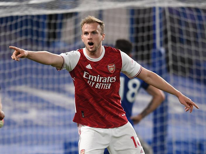 Arsenal defender Rob Holding (Arsenal FC via Getty Images)