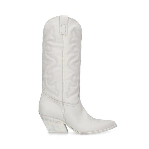 <p>Yes, everyone needs a great black boot, but there's also room for some fun. These bright white <span>Steve Madden West Boots</span> ($200) make us smile.</p>