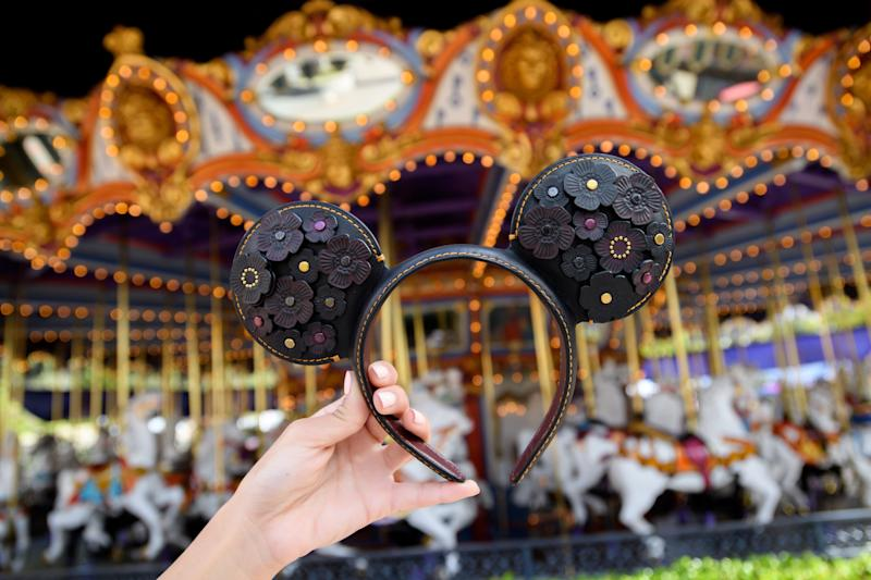Coach's Mickey Mouse ears are made of leather. (Photo: Disney)