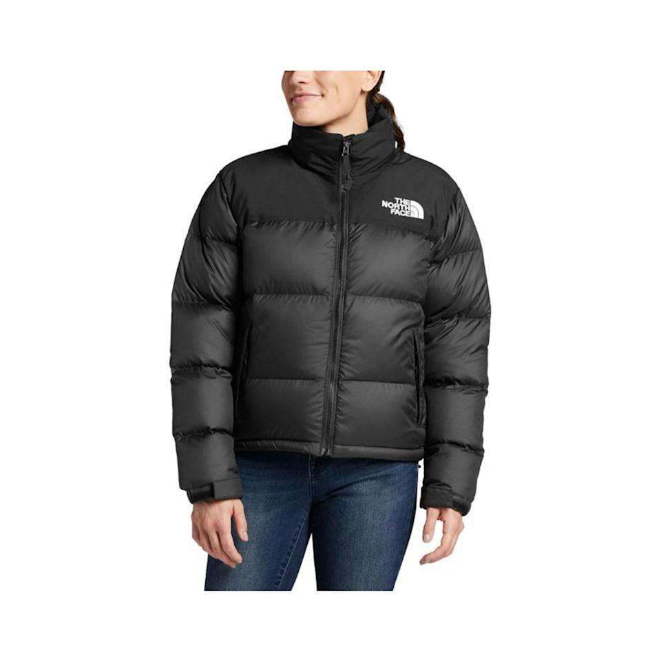 """It's hard to go wrong with a down puffer from The North Face (its products come with a lifetime guarantee). This model not only looks cute, but it's also super practical. It's stuffed with 600-fill recycled down, so you'll never be too hot or too cold, and the water-repellent finish will keep your jacket from getting soaked in the rain and losing all its shape. $249, REI. <a href=""""https://www.rei.com/product/158091/the-north-face-eco-nuptse-down-jacket-womens"""">Get it now!</a>"""