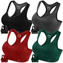 """<p><strong> The bra: </strong> <span>Fittin Racerback Sports Bras </span> ($14-$34)</p> <p><strong> The rating: </strong> 4.4 stars, over 41,200 ratings </p> <p><strong> Why People Love It: </strong> If you're looking for a high-performance piece for an affordable price, this is your match. It also comes in a four-pack! It solved this reviewers issue for support. """"I have a hard time finding sports bras that are supportive, and this bra was a pleasant surprise! It fits, lifts my breasts, and provides just the right amount of coverage and protection. My breasts are heavy, so they tend to sag in bras that don't have underwire. But in this bra, they don't sag at all!.""""</p>"""