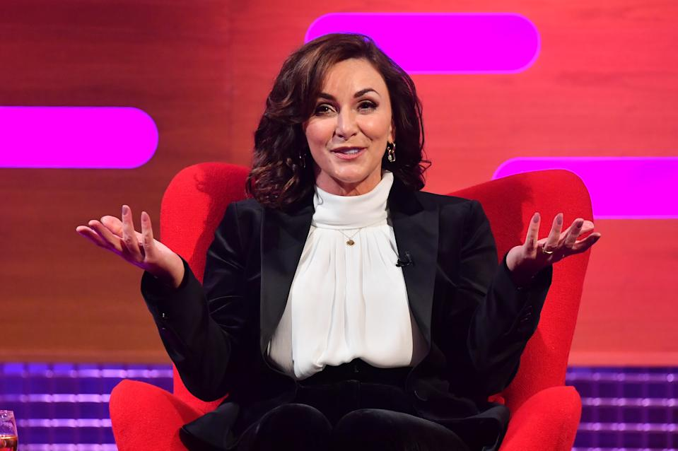 EDITORIAL USE ONLY Shirley Ballas during the filming for the Graham Norton Show at BBC Studioworks 6 Television Centre, Wood Lane, London, to be aired on BBC One on Friday evening. Picture date: Thursday October 8, 2020. See PA story. Photo credit should read: PA Media on behalf of So TV