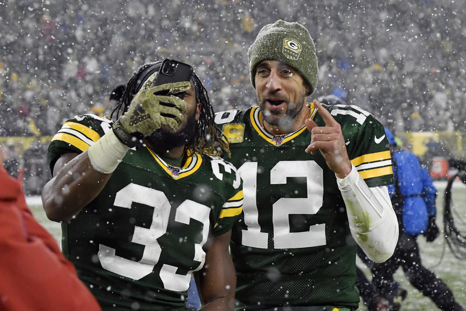 NBC and the NFL are betting on the 49ers and Packers potentially playing for home-field advantage in the playoffs. (Quinn Harris/Getty Images)
