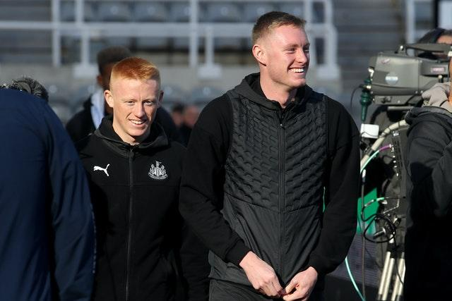 Matty Longstaff (left) and older brother Sean are both on the books at Newcastle