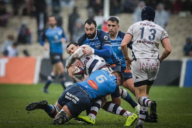Bordeaux-Begles could make little headway against the Castres defense in the Top 14 (AFP Photo/Thibaud MORITZ)