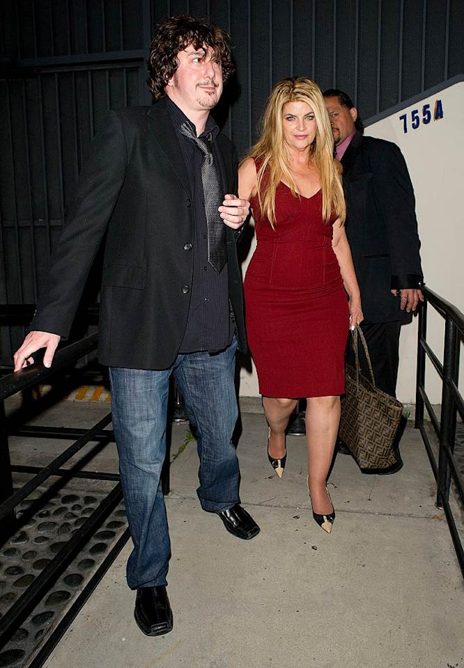 """After Tuesday night's """"Dancing With the Stars"""" elimination show, contestant Kirstie Alley (who made it through her routine with no falls this week!) joined some of the her celeb competitors for dinner at West Hollywood steakhouse STK. <a href=""""http://www.splashnewsonline.com"""" target=""""new"""">Splash News</a> - April 19, 2011"""