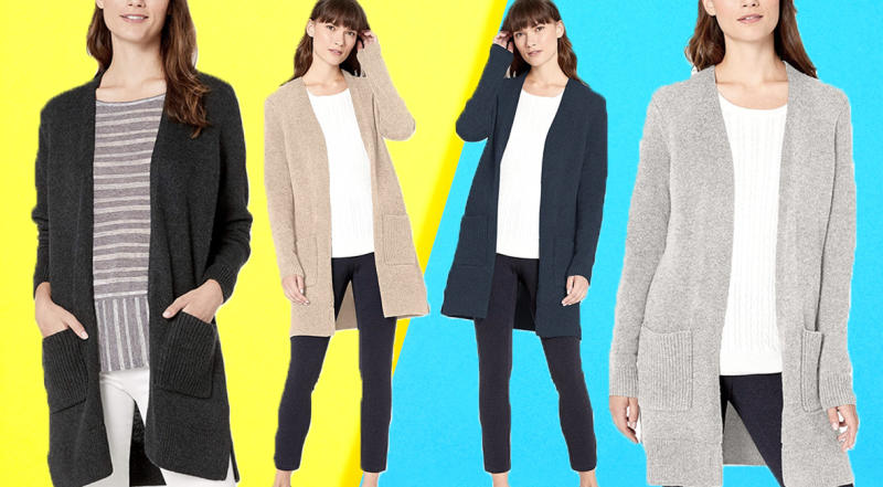 Everyone will want to know where you got this cardigan. Trust me. (Photo: Amazon/Getty)