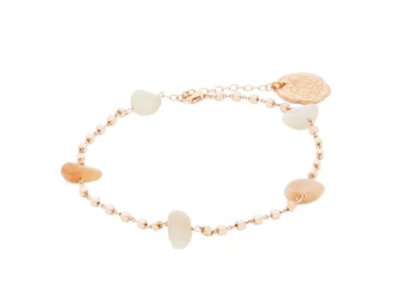 Ancient Greek Sandals moonstone charm anklet. (PHOTO: Matches Fashion)