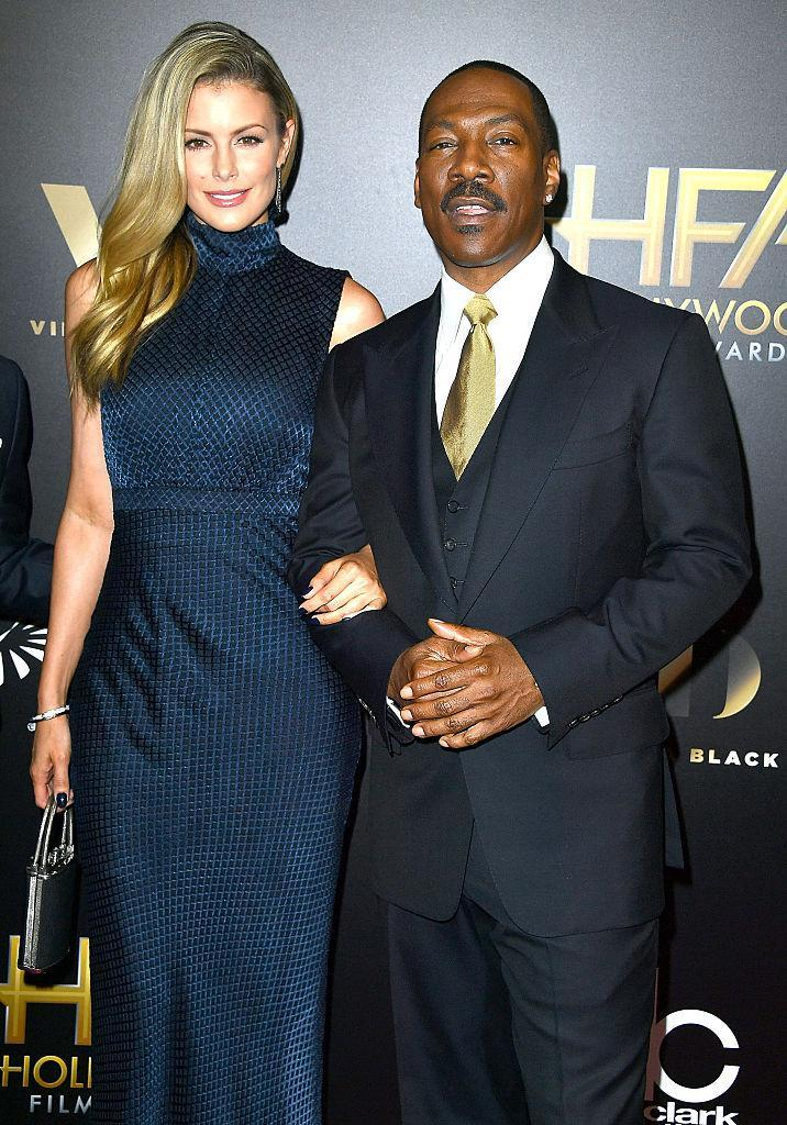 LOS ANGELES, CA - NOVEMBER 06: Eddie Murphy, Paige Butcher arrives at the 20th Annual Hollywood Film Awards on November 6, 2016 in Los Angeles, California. (Photo by Steve Granitz/WireImage)
