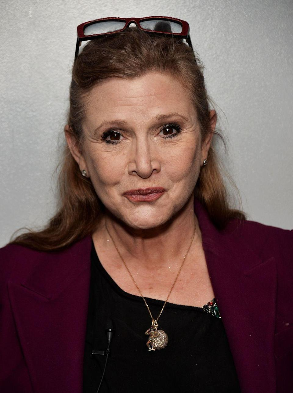 """<p>""""One of the things that baffles me (and there are quite a few) is how there can be so much lingering stigma with regards to mental illness, specifically bipolar disorder,"""" the <em>Star Wars </em>actress <a href=""""http://ew.com/news/2016/12/28/carrie-fisher-quotes-mental-health/"""" rel=""""nofollow noopener"""" target=""""_blank"""" data-ylk=""""slk:wrote"""" class=""""link rapid-noclick-resp"""">wrote</a> in her memoir <em><a href=""""https://www.amazon.com/Wishful-Drinking-Carrie-Fisher/dp/143915371X?tag=syn-yahoo-20&ascsubtag=%5Bartid%7C10063.g.36459994%5Bsrc%7Cyahoo-us"""" rel=""""nofollow noopener"""" target=""""_blank"""" data-ylk=""""slk:Wishful Drinking"""" class=""""link rapid-noclick-resp"""">Wishful Drinking</a>.</em> """"In my opinion, living with manic depression takes a tremendous amount of balls.""""</p>"""