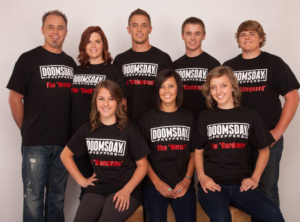The Southwick family of Preppers.  (Left to right, front row):  Rylee, Jayden and Taja.  (Left to right, back row):  Braxton, Kara, Braxton, Jr., Treston and Colton.