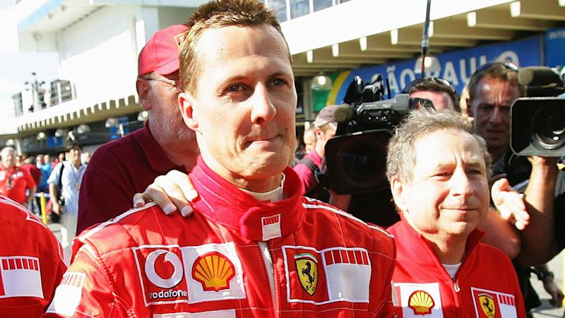 Michael Schumacher with former Ferrari boss Jean Todt in 2006. (Photo by Vladimir Rys/Bongarts/Getty Images)