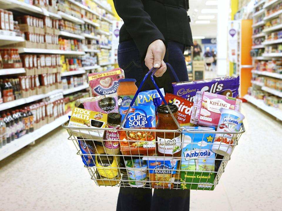 Supermarket sales for the four weeks to 12 July grew by 14.6 per cent against the same period last year, as it slowed down from 18.9 per cent growth in June: PA