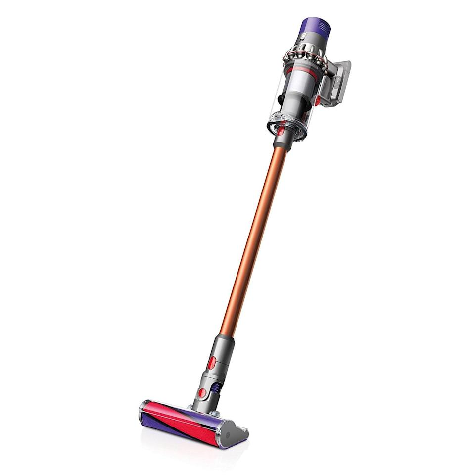 """<p>I've always dreamed of owning this <a href=""""https://www.popsugar.com/buy/Dyson-Cyclone-V10-Absolute-Lightweight-Cordless-Stick-Vacuum-389411?p_name=Dyson%20Cyclone%20V10%20Absolute%20Lightweight%20Cordless%20Stick%20Vacuum&retailer=amazon.com&pid=389411&price=350&evar1=fab%3Aus&evar9=45509008&evar98=https%3A%2F%2Fwww.popsugar.com%2Ffashion%2Fphoto-gallery%2F45509008%2Fimage%2F45509014%2FDyson-Cyclone-V10-Absolute-Lightweight-Cordless-Stick-Vacuum&list1=shopping%2Csales%2Ceditors%20pick%2Cblack%20friday%2Csale%20shopping%2Cblack%20friday%20sales&prop13=mobile&pdata=1"""" rel=""""nofollow noopener"""" class=""""link rapid-noclick-resp"""" target=""""_blank"""" data-ylk=""""slk:Dyson Cyclone V10 Absolute Lightweight Cordless Stick Vacuum"""">Dyson Cyclone V10 Absolute Lightweight Cordless Stick Vacuum </a> ($350, originally $600) to help keep my carpet and floors clean. Now's the perfect time to snatch it on sale.</p>"""