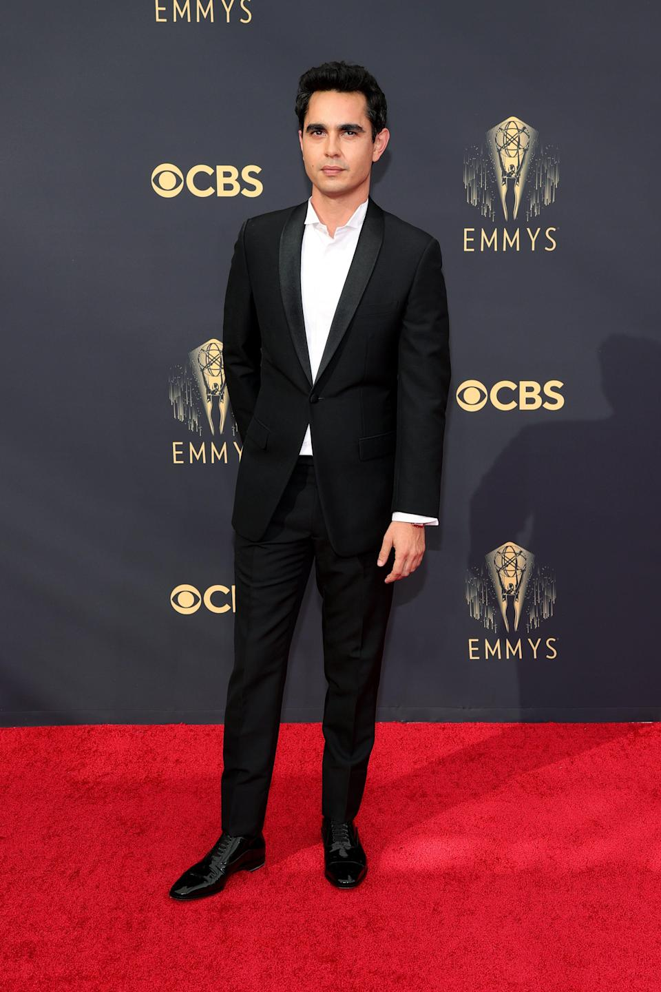 Max Minghella attends the 2021 Emmys.