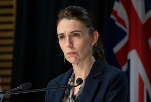 WELLINGTON, NEW ZEALAND - SEPTEMBER 04: Prime Minister Jacinda Ardern during a press conference in Parliament on September 4, 2021 in Wellington, New Zealand. Police shot and killed a