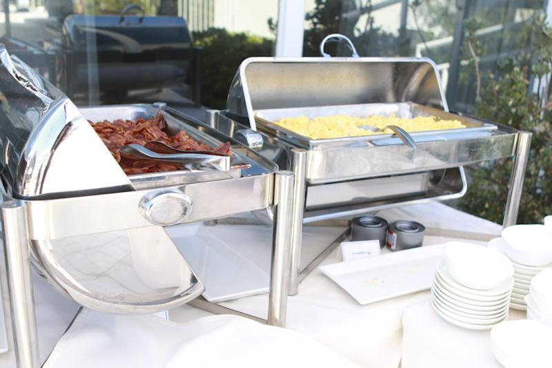 LOS ANGELES, CA - SEPTEMBER 17: A general view of the brunch buffet at EcoLuxe Lounge Celebrates the Emmys on September 17, 2016 in Los Angeles, California. (Photo by Tasia Wells/WireImage)