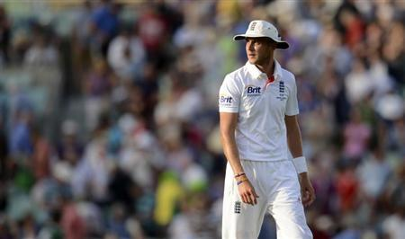 England's Stuart Broad looks on during the fifth Ashes cricket test match against Australia at The Oval cricket ground, London