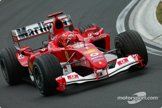 "2004: Ferrari F2004 <span class=""copyright"">Bridgestone Corporation</span>"