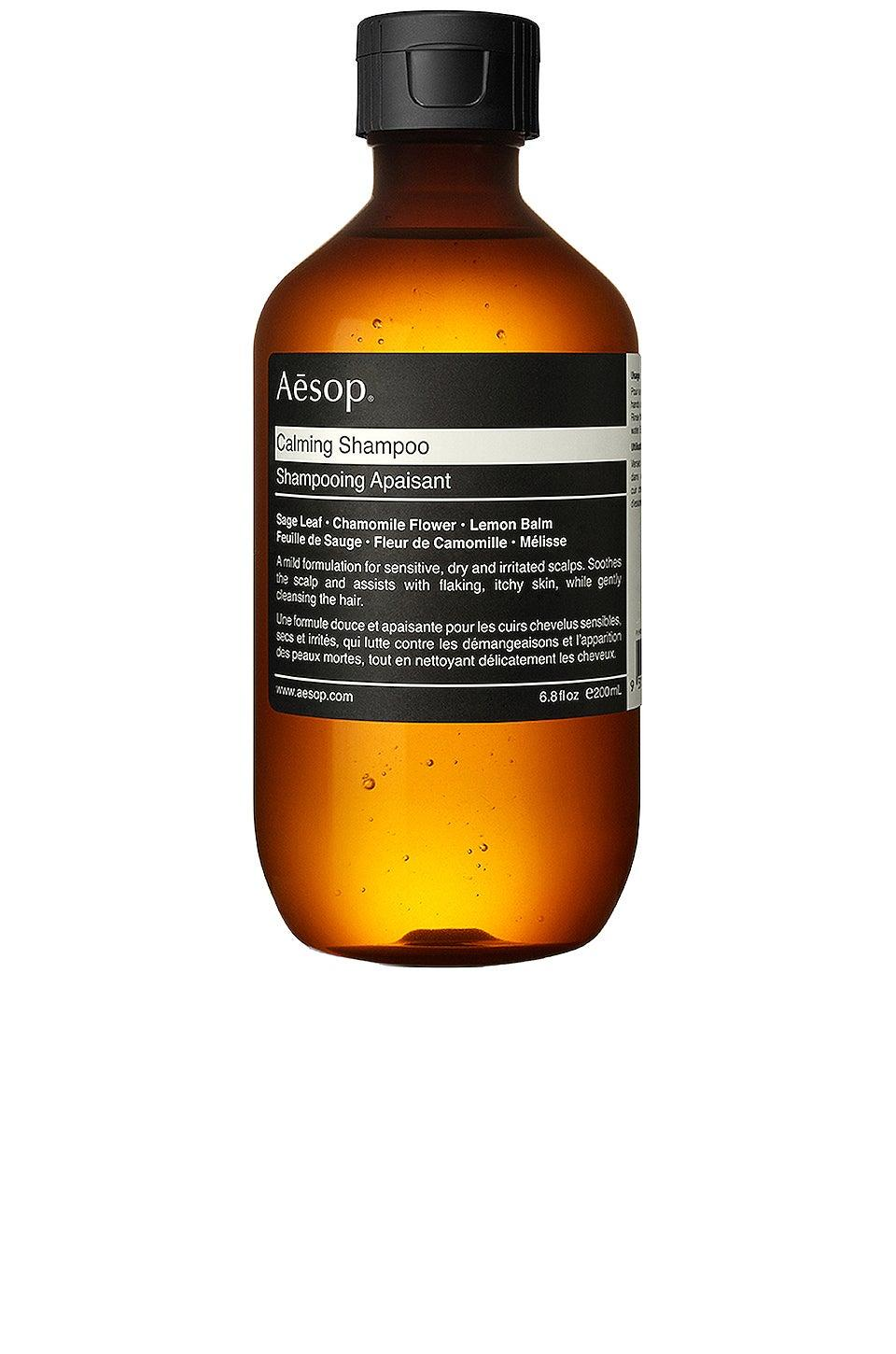 """<h3><a href=""""https://www.skinstore.com/aesop-calming-shampoo-200ml/10619327.html"""" rel=""""nofollow noopener"""" target=""""_blank"""" data-ylk=""""slk:Aesop Calming Shampoo"""" class=""""link rapid-noclick-resp"""">Aesop Calming Shampoo</a></h3><br>Pick up this Aesop option and you'll look forward to shampooing your strands with a sage-, chamomile-, and tea tree-infused formula that smells like a spa day.<br><br><strong>Aesop</strong> Calming Shampoo, $, available at <a href=""""https://www.skinstore.com/aesop-calming-shampoo-200ml/10619327.html"""" rel=""""nofollow noopener"""" target=""""_blank"""" data-ylk=""""slk:SkinStore"""" class=""""link rapid-noclick-resp"""">SkinStore</a>"""