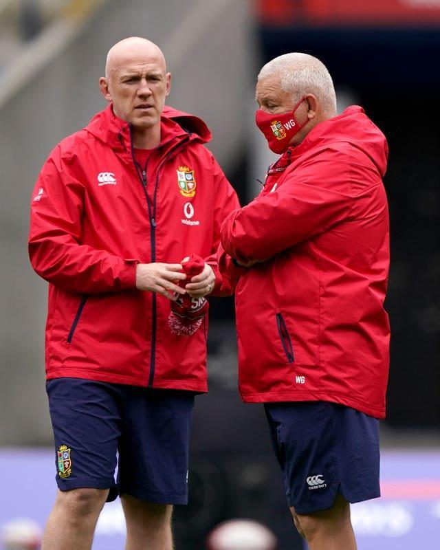 Steve Tandy (left) and Warren Gatland (right) were involved in a lengthy selection meeting on Sunday