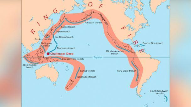HT ring of fire map background jef 140402 16x9 608 Earthquakes in Chile and L.A. Raise Fears About Ring of Fire