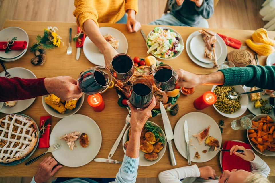 """<p>Of course, your <a href=""""https://www.countryliving.com/food-drinks/g637/thanksgiving-menus/"""" rel=""""nofollow noopener"""" target=""""_blank"""" data-ylk=""""slk:Thanksgiving menu"""" class=""""link rapid-noclick-resp"""">Thanksgiving menu</a> is important, but the holiday is so much more than just piling our plates with <a href=""""https://www.countryliving.com/food-drinks/g2696/mashed-potato-recipes/"""" rel=""""nofollow noopener"""" target=""""_blank"""" data-ylk=""""slk:mashed potatoes"""" class=""""link rapid-noclick-resp"""">mashed potatoes</a>. <a href=""""https://www.countryliving.com/life/a25020918/what-day-is-thanksgiving/"""" rel=""""nofollow noopener"""" target=""""_blank"""" data-ylk=""""slk:Thanksgiving Day"""" class=""""link rapid-noclick-resp"""">Thanksgiving Day</a> is also a time to show your gratitude for your friends, family, and all that you have in life. These best Thanksgiving quotes will remind everyone of the reason for the fall season! This list is full of thoughtful words that would make for a great holiday toast or even as a nice <a href=""""https://www.countryliving.com/life/a24218556/thanksgiving-instagram-captions/"""" rel=""""nofollow noopener"""" target=""""_blank"""" data-ylk=""""slk:Thanksgiving Instagram caption"""" class=""""link rapid-noclick-resp"""">Thanksgiving Instagram caption</a>. The day can be quite hectic, especially if you're hosting this year's festivities—so make sure you read these Thanksgiving quotes for friends and family before November 26, and then save them to read aloud to your guests on Thanksgiving Day. </p><p>Or when your day starts to get stressful (and you realize just how many <a href=""""https://www.countryliving.com/shopping/a23583970/stores-closed-thanksgiving-2018/"""" rel=""""nofollow noopener"""" target=""""_blank"""" data-ylk=""""slk:stores are closed on Thanksgiving"""" class=""""link rapid-noclick-resp"""">stores are closed on Thanksgiving</a> just as soon as you run out of <a href=""""https://www.countryliving.com/food-drinks/g974/pumpkin-pie-recipes/"""" rel=""""nofollow noopener"""" target=""""_blank"""" data-ylk=""""slk:pumpkin pie"""" class=""""link rapid"""