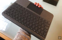 Hands-on with Logitech's Folio Touch keyboard.
