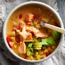 <p>Perfect for a cold day, this salmon chowder is an excellent source of high quality lean protein and omega-3 fatty acids. As an added bonus, this low-effort chowder can be prepared in less than an hour.</p>