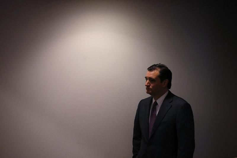 Sen. Ted Cruz, R-Texas waits off stage as he is introduced before speaking about energy at the Heritage Action for America 2014 Conservative Policy Summit at the Heritage Foundation in Washington, Monday, Feb. 10, 2014. (AP Photo/Charles Dharapak)