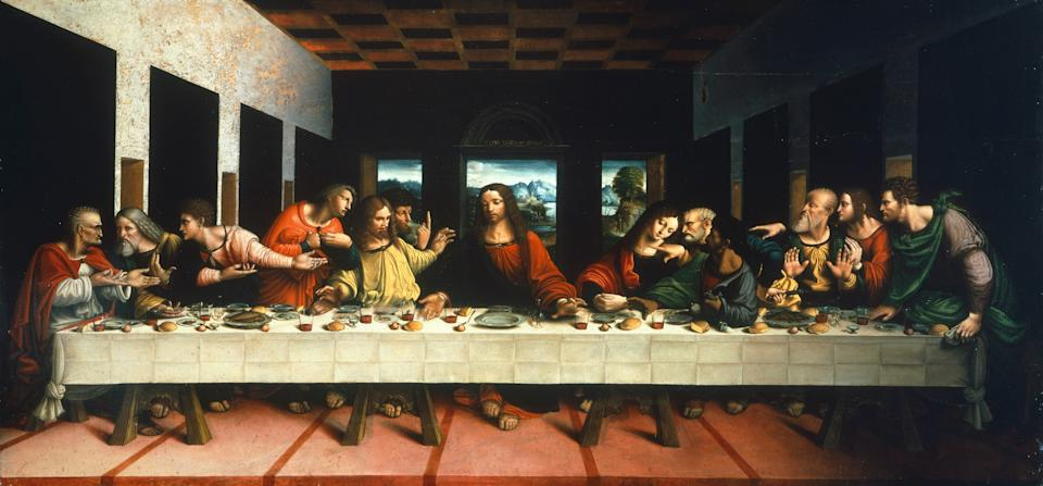 ITALY - DECEMBER 21:  Milan, Pinacoteca Di Brera (Art Gallery, Paintings) Copy of the Last Supper by Leonardo da Vinci, by Cesare Magni (first half of 16th century). (Photo by DeAgostini/Getty Images)