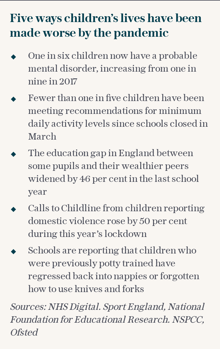 Five ways children's lives have been made worse by the pandemic