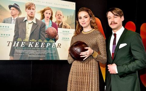 Freya Mavor and David Kross attend 'The Keeper' European Premiere at Vue Printworks on March 21, 2019 in Manchester - Credit: Shirlaine Forrest/Getty Images