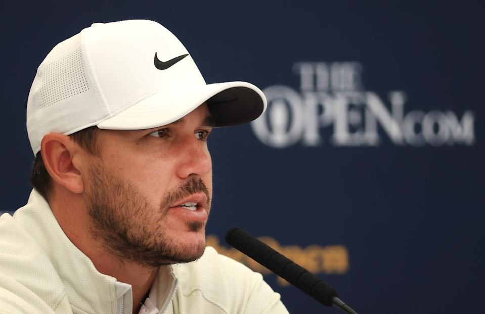 Brooks Koepka during a press conference (PA Media)