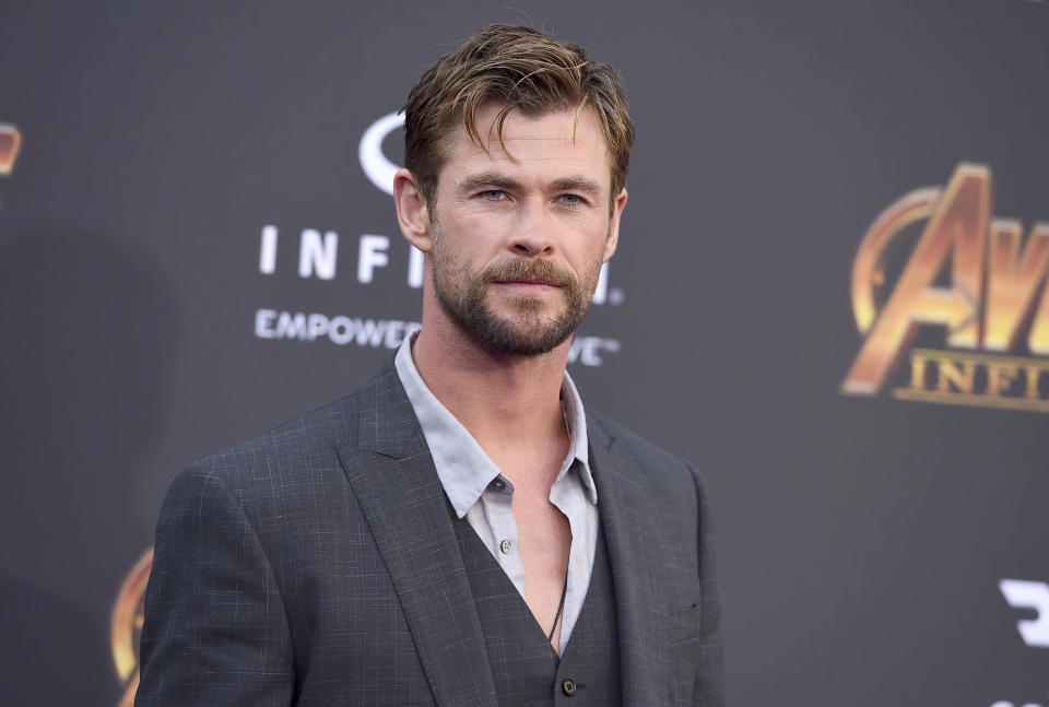 """Chris Hemsworth at the world premiere of """"Avengers: Infinity War"""" in Los Angeles. (Photo: AP)"""