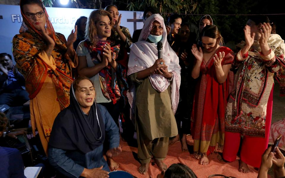 Transgender people attend a prayer service - Fareed Khan /AP