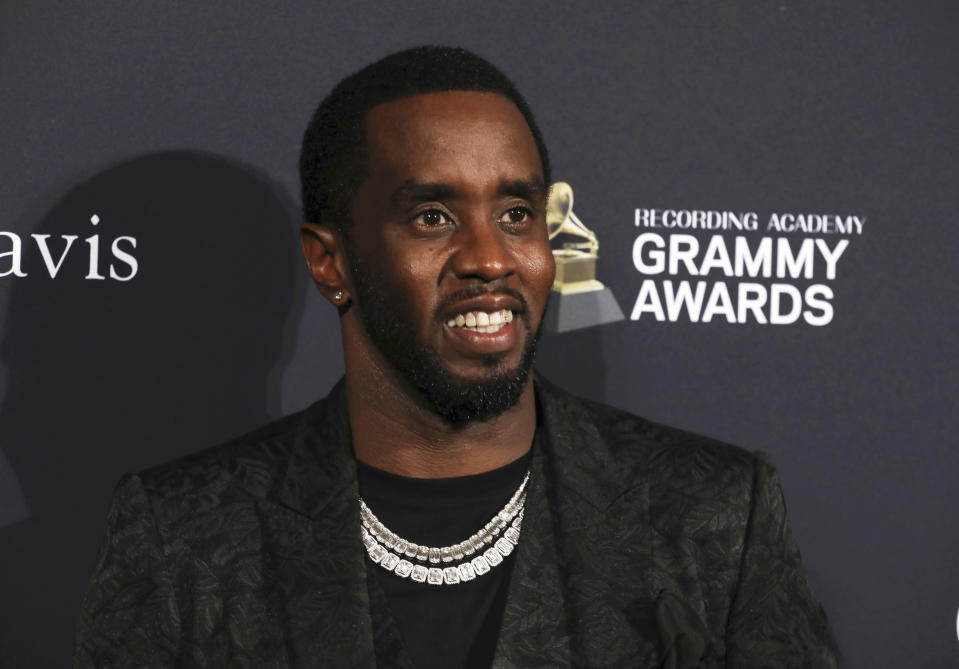 Sean Combs arrives at the Pre-Grammy Gala And Salute To Industry Icons at the Beverly Hilton Hotel on Saturday, Jan. 25, 2020, in Beverly Hills, Calif. (Photo by Mark Von Holden/Invision/AP)