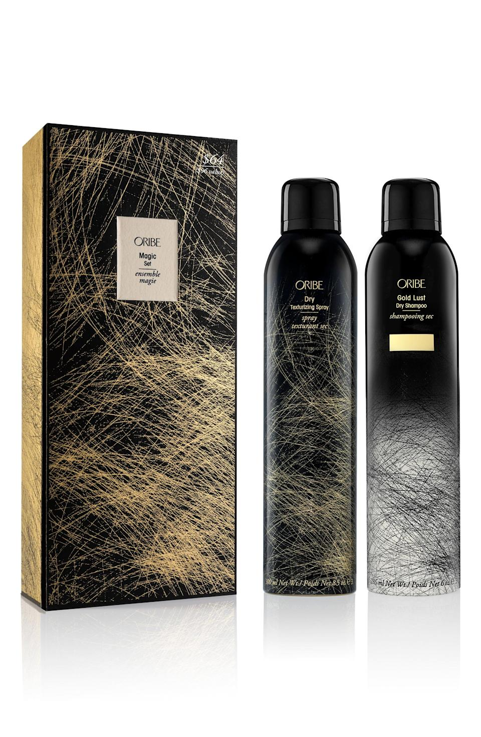 "<p><strong>ORIBE</strong></p><p>nordstrom.com</p><p><strong>$64.00</strong></p><p><a href=""https://go.redirectingat.com?id=74968X1596630&url=https%3A%2F%2Fwww.nordstrom.com%2Fs%2Foribe-full-size-gold-lust-dry-shampoo-dry-texturizing-spray-set-96-value%2F5580707&sref=https%3A%2F%2Fwww.townandcountrymag.com%2Fstyle%2Fbeauty-products%2Fg33595678%2Fbeauty-buys-to-pick-up-during-the-2020-nordstrom-anniversary-sale%2F"" rel=""nofollow noopener"" target=""_blank"" data-ylk=""slk:Shop Now"" class=""link rapid-noclick-resp"">Shop Now</a></p><p><em>Value: $96</em></p>"