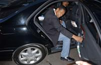 <p>Denzel Washington gets in the car as he leaves the press conference about his latest movie Inside Man at the Regency Hotel, Manhattan March 11, 2006 in New York City. </p>